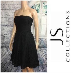 Beautiful Black Strapless Dress By JS Collections